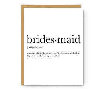 Bridesmaid Definition