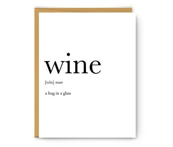 Wine Definition Greeting Card