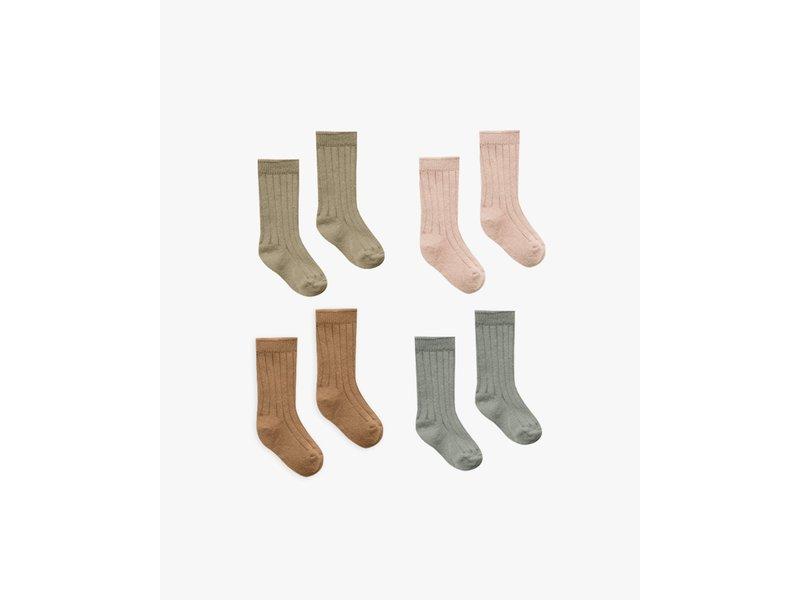 Quincy Mae Baby Socks 4 Pack 0-6m