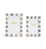 Two's Company Pyrmaid Grey and White Photo Frames