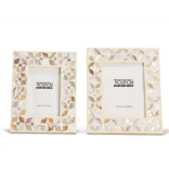 Two's Company Flower Inlay Photo Frame