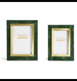 Two's Company Aventurine Green & Gold Photo Frame