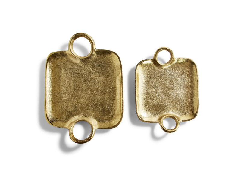 Two's Company Metropolitan Decorative Gold Trays