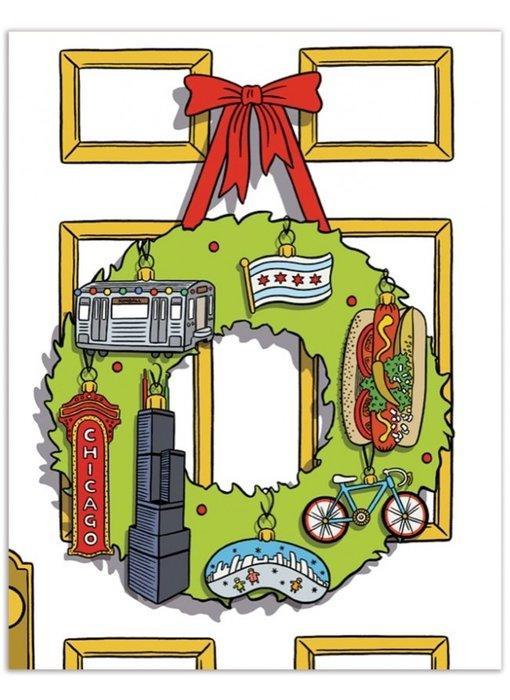 Chicago Wreath Card