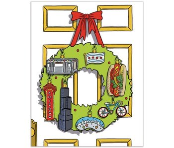 Chicago Wreath Card Boxed Notecards