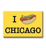 The Found Hot Dog Chicago Magnet