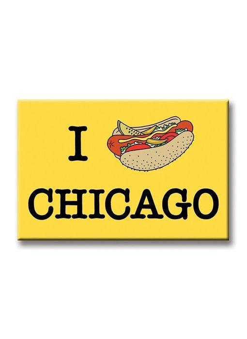 Hot Dog Chicago Magnet