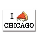 The Found I Pizza Chicago Magnet