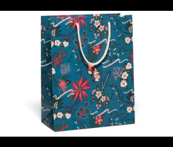 Blue Poinsettia Bag