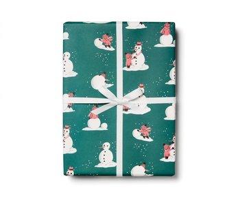 Building Snowmen Gift Wrap