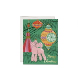 Red Cap Cards Christmas Poodle Boxed Notes