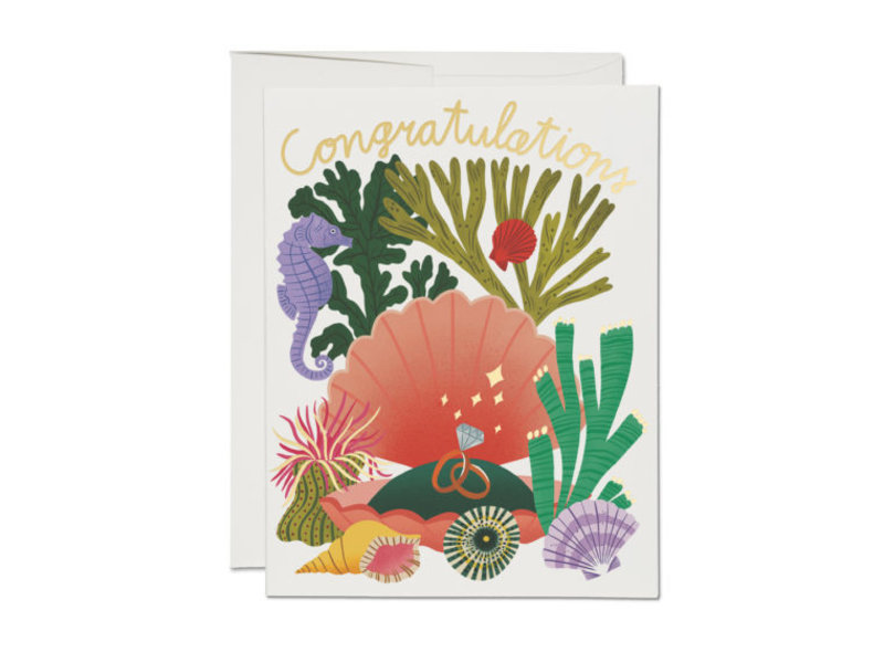 Red Cap Cards Clam Shell Congrats