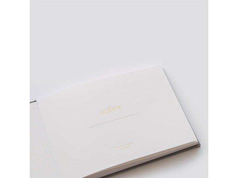 Sugar Paper Flax Guest Book
