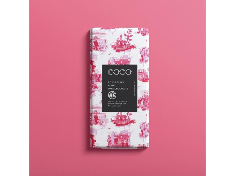 Coco Rose & Black Pepper Chocolate Bar