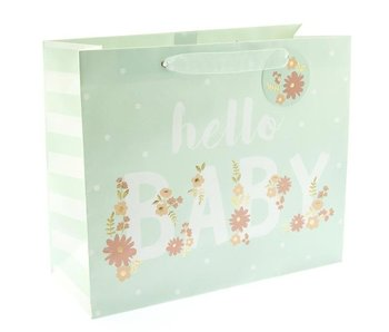 Hello Baby Blue Gift Bag