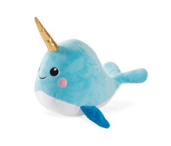 Baby Narwhal Plush Dog Toy