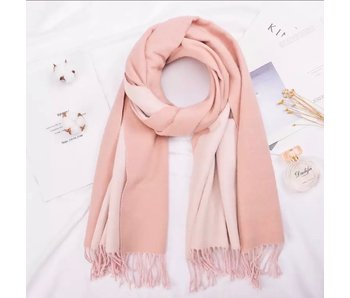 Blush and Light Pink Silk Blend Scarf