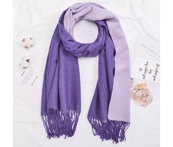 Purple and Lilac Silk Blend Scarf
