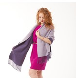 Tourance Linens Silk Blend Scarf - Purple and Lilac