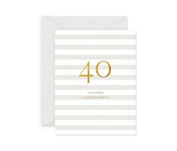 40 Milestone Birthday Greeting Card