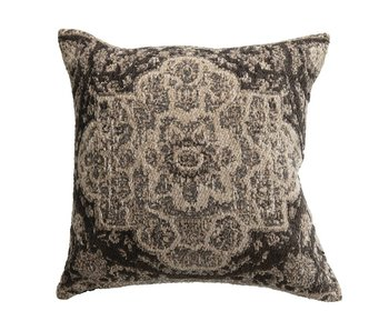 Grey Cotton Chenille Pillow