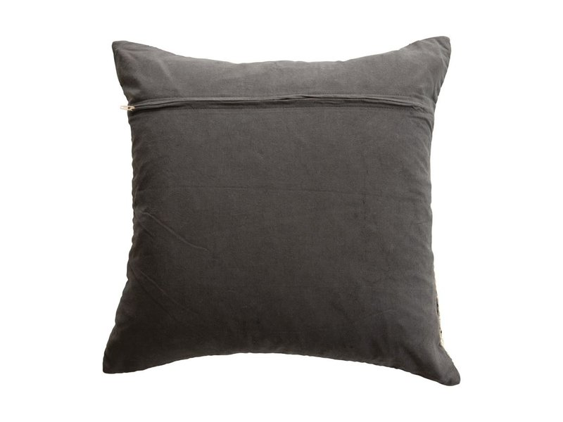 Bloomingville Grey Cotton Blend Chenille Jacquard Pillow