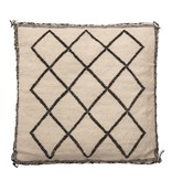 Bloomingville Diamond Square Woven Wool Pillow