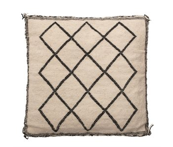 Diamond Square Woven Wool Pillow