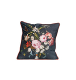 Bloomingville Cotton Floral Pillow w/ Embroidery