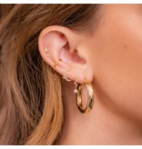 Girls Crew One and Only Moon Earrings Gold