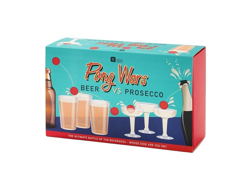 Talking Tables Pong Wars Beer Vs. Prosecco