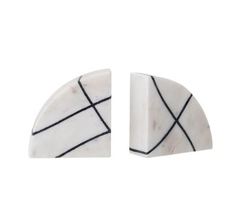 Black & White Marble Bookends