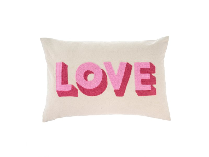 Indaba Trading Love Embroidered Pillow