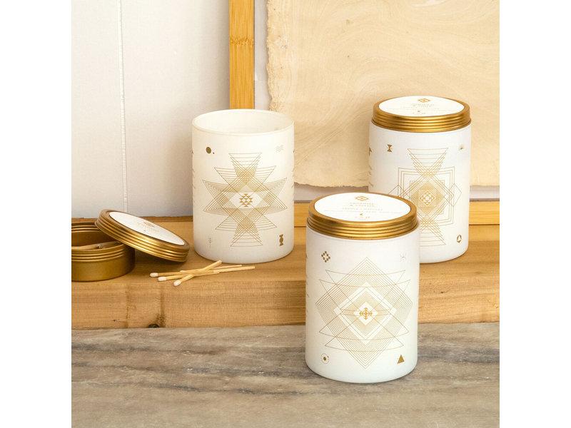 Skeem Jasmine and Lotus Totem White Candle