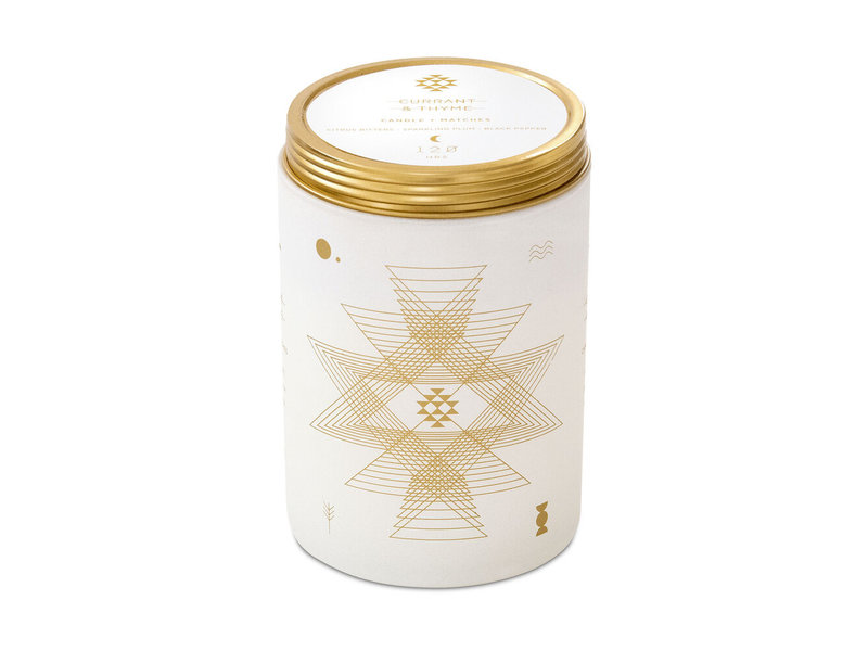 Skeem Currant and Thyme Totem White Candle