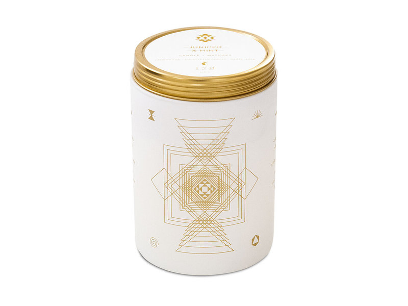 Skeem Juniper and Mint Totem White Candle