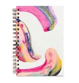 Moglea Candy Swirl Painted Notebook