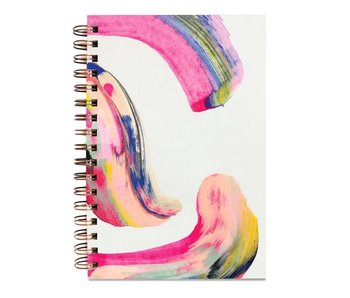 Candy Swirl Painted Notebook
