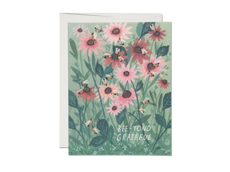 Red Cap Cards Bee-yond Grateful