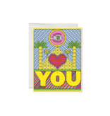 Red Cap Cards Eye Heart You