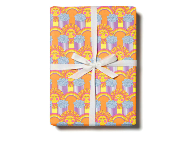 Red Cap Cards Sun and Rainbows Gift Wrap