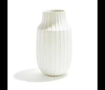 Scratch Rib Textured Vase