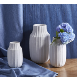 Two's Company Scratch Rib Textured Vase
