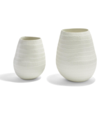 Two's Company Embossed Lines Organic Vase