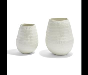 Embossed Lines Organic Vase