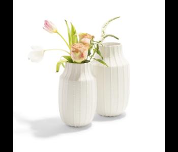 Ribbed Linen Vase