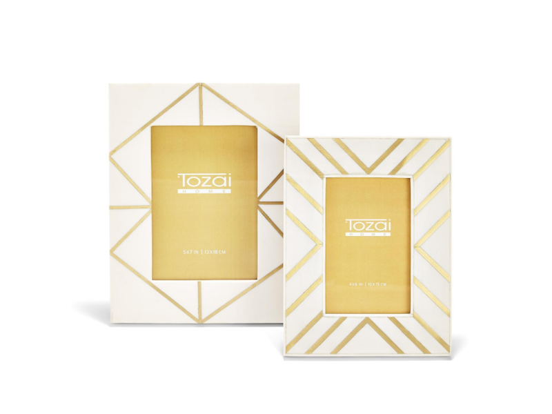 Two's Company Brass Angles Inlay Frames