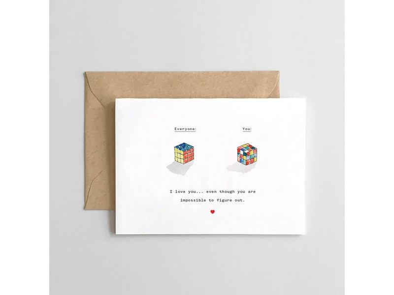 Spaghetti & Meatballs Rubix Cube Card