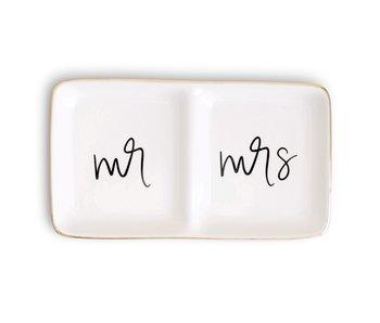 Mr. and Mrs. Jewelry Dish