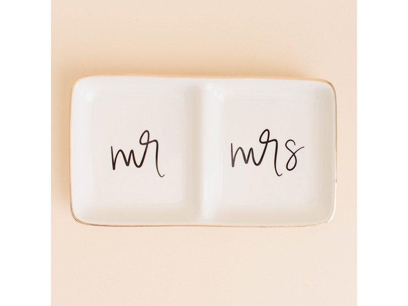 Sweet Water Decor Mr. and Mrs. Jewelry Dish